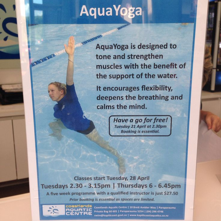 AquaYoga classes starting today.
