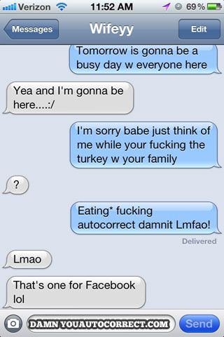 20 Funny Autocorrects To Celebrate Thanksgivikkah! - Damn You Auto Correct!