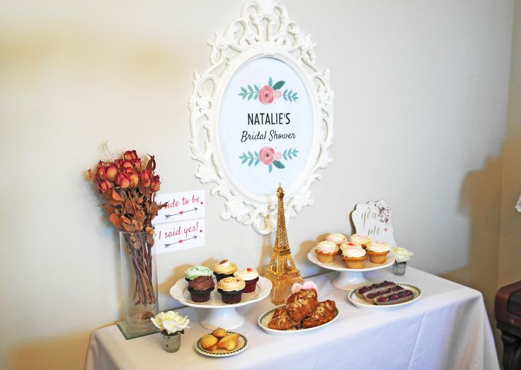 A Parisienne Bridal Shower at home #HighTea