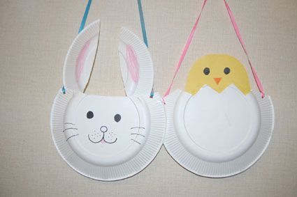 Preschool Crafts for Kids*: Paper Plate Easter Basket Craft