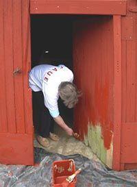 peinture suédoise (protège les bois extérieurs)
