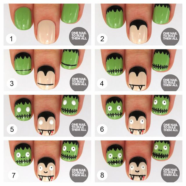 Halloween Nail Designs Step By Step