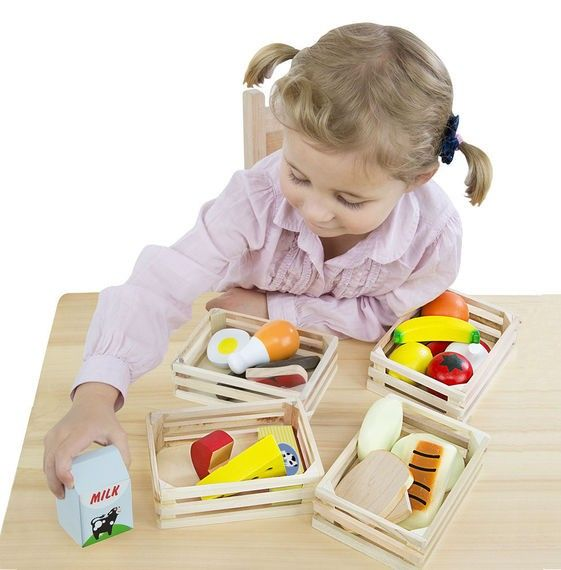 Melissa & Doug Kitchen Play - Food Groups - Wooden Play Food