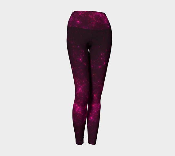 Pink and black galaxy inspired fractal yoga leggings  https://www.etsy.com/au/listing/530857787/pink-and-black-yoga-leggings-yoga