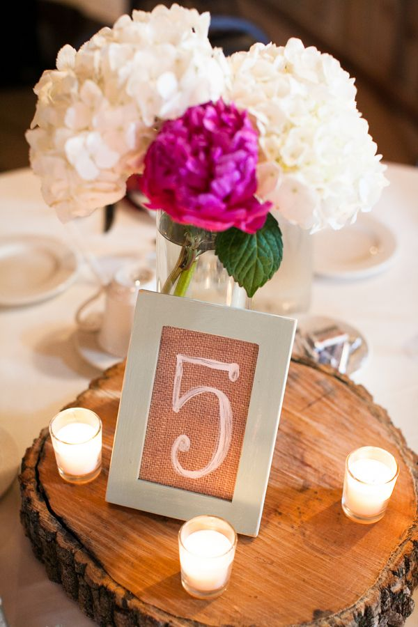 Wedding Centerpiece and table number