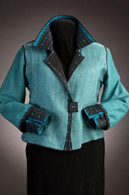 refashion my long black jacket like this? Elizabeth Garver Artwear | Jackets