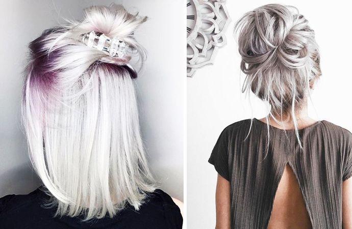 De mooiste kapsels met (zilver)blond haar - STYLETODAY