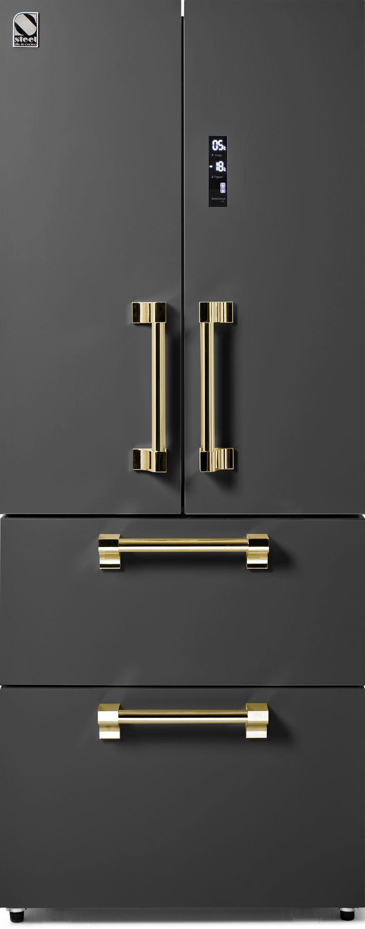 Steel - Ascot - Fristående Kylskåp med fransk dörr - 70 cm | Range Cookers från MyRangeCooker.se