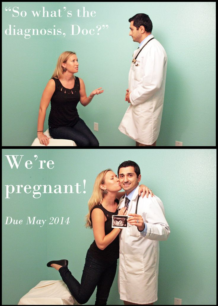 pregnancy announcement medical doctor