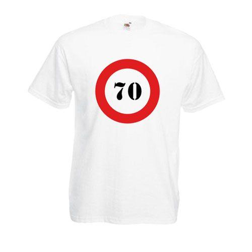 70-es táblás férfi fehér póló.