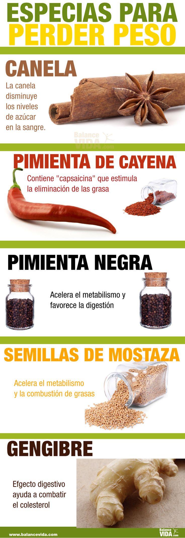 #especias que te ayudan a #perderpeso
