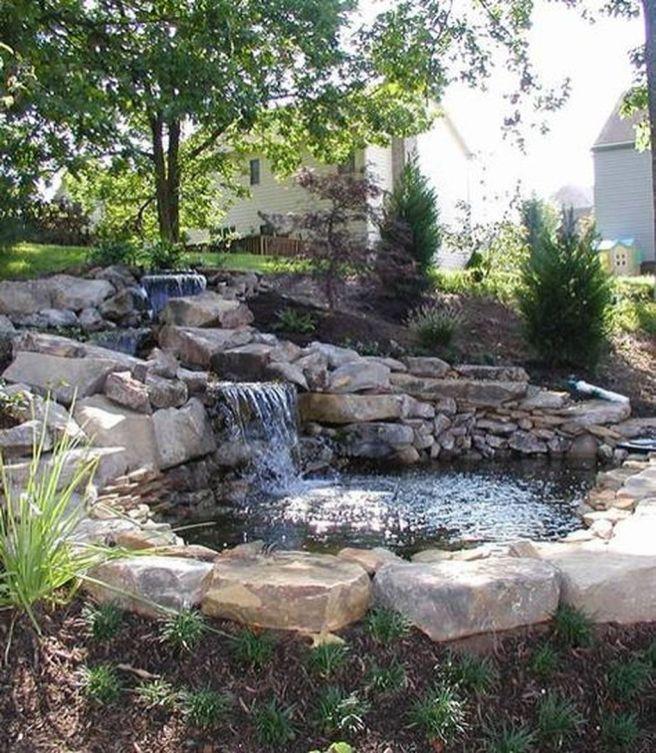 Best 20 pond design ideas on pinterest koi pond design for Front yard pond ideas