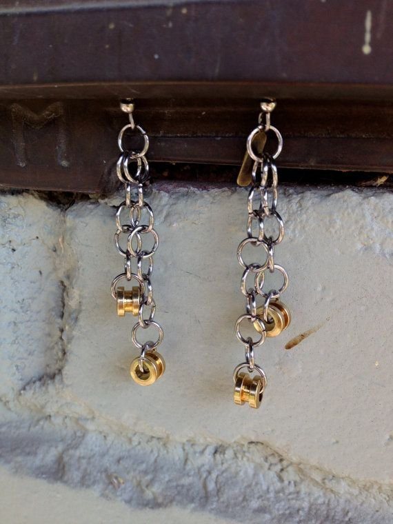 Recycled Bass Strings  Restored Bass String Dangle by sparrowc, $26.00
