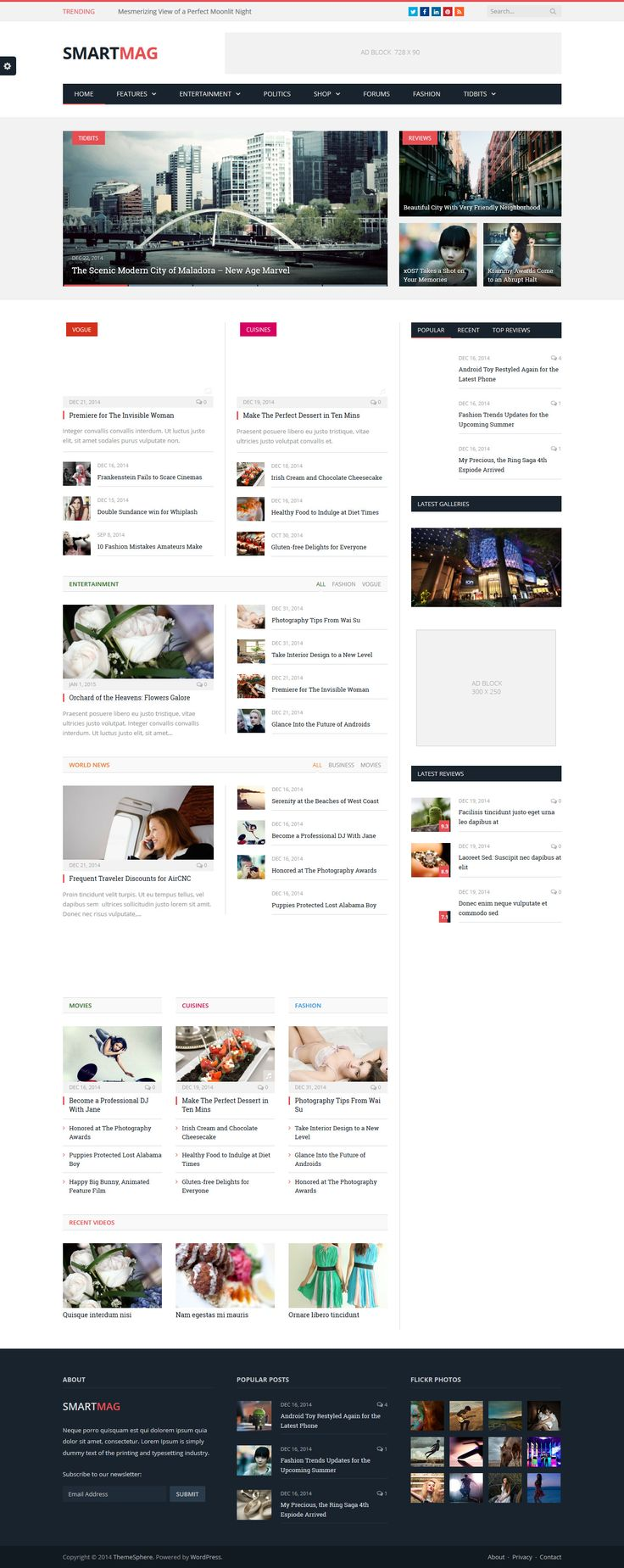 SmartMag - Responsive & Retina WordPress Magazine Theme #wordpress Live Preview and Download: http://themeforest.net/item/smartmag-responsive-retina-wordpress-magazine/6652608?ref=ksioks