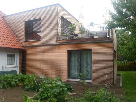 Anbau in Holzrahmenbauweise mit 20er Ständern und…