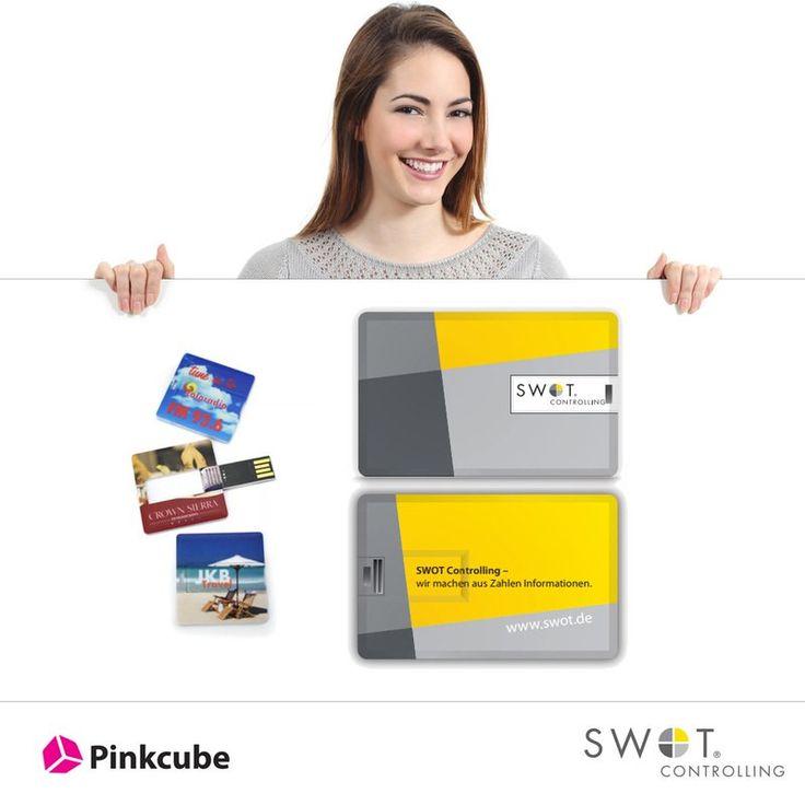Passt in jeden Geldbeutel - Die innovativen und beidseitig bedruckbaren #USB #CreditCards sind der #Werbeträger schlechthin, wenn es darum geht, dass Kunden Ihre Marke speichern. Um so mehr freuen wir uns über die Bestellung, der mit dem Logo und Claim bedruckten USB Credit Cards für die  SWOT Controlling GmbH.  http://www.usbstickcenter.de/referenzen/bedruckte-credit-cards-usb-speicher-fur-die-swot-controlling-gmbh