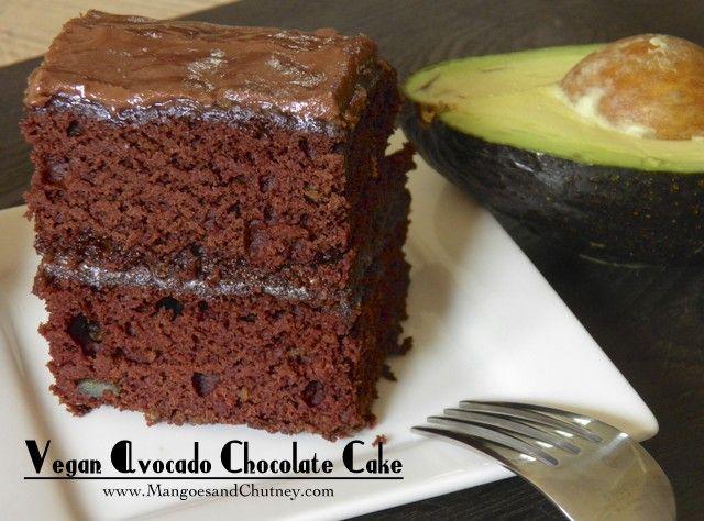 Best Ever Vegan Avocado Chocolate Cake