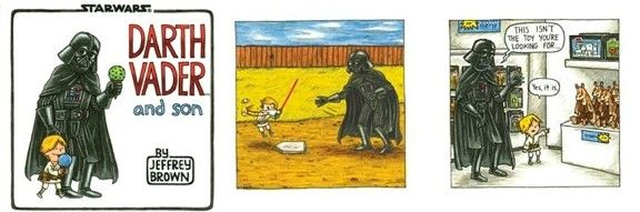 Darth Vader and Son.  Funny, check it out when it gets released later this month.