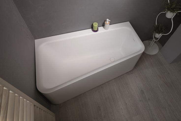 Aquatica Jane-Wht™ Solid Surface Corner Bathtub