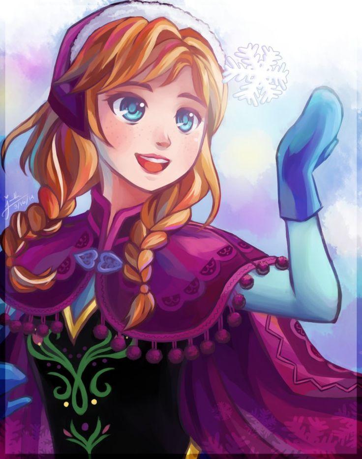 Anna Frozen Disney Princesses Manga Animal Animal Frozen
