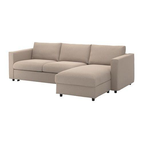 Vimle sleeper sofa with chaise farsta black ikea - Apartment sofa with chaise ...