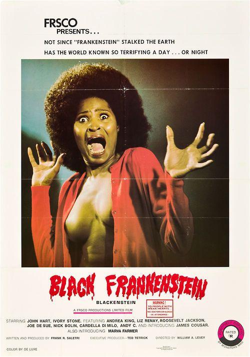 Black Frankenstein (1973) aka: Blackenstein. One sheet poster.