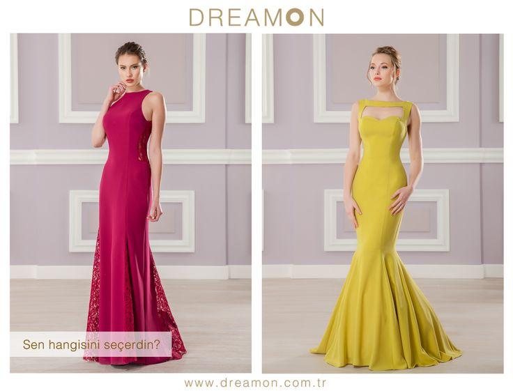 """DreamON'un birbirinden özel modellerinden """"Sen Hangisini Seçerdin?"""" Grappa (Vişne çürüğü) ya da Chivas (Elma yeşili)  #gelinlik #gelinlikmodelleri #dreamongelinlik #dreamon #gelinlikler #bittersweet #grappa #chivas www.dreamon.com.tr"""