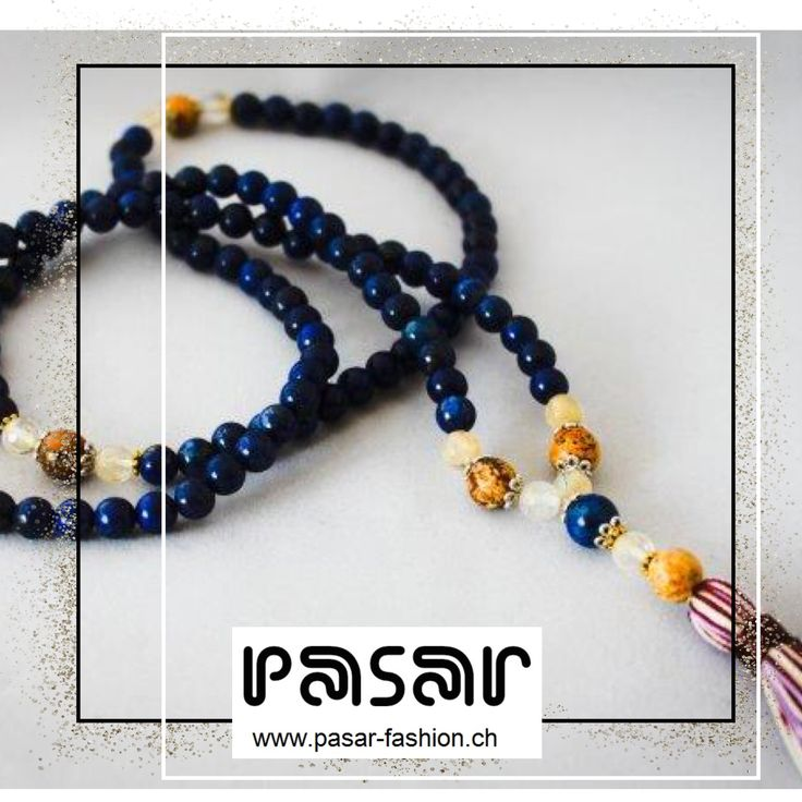 Pasar - Beaded Lapis Lazuli - Fashion Mala