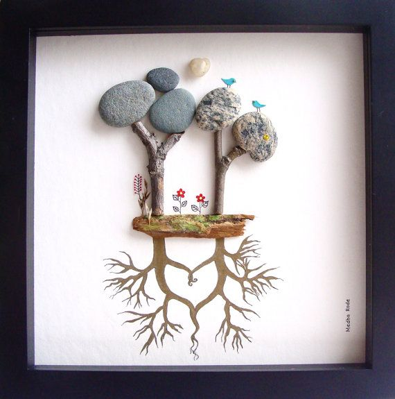 Unique WEDDING Gift- Customized Wedding Gift- Unique Engagement Gift- Pebble Art…