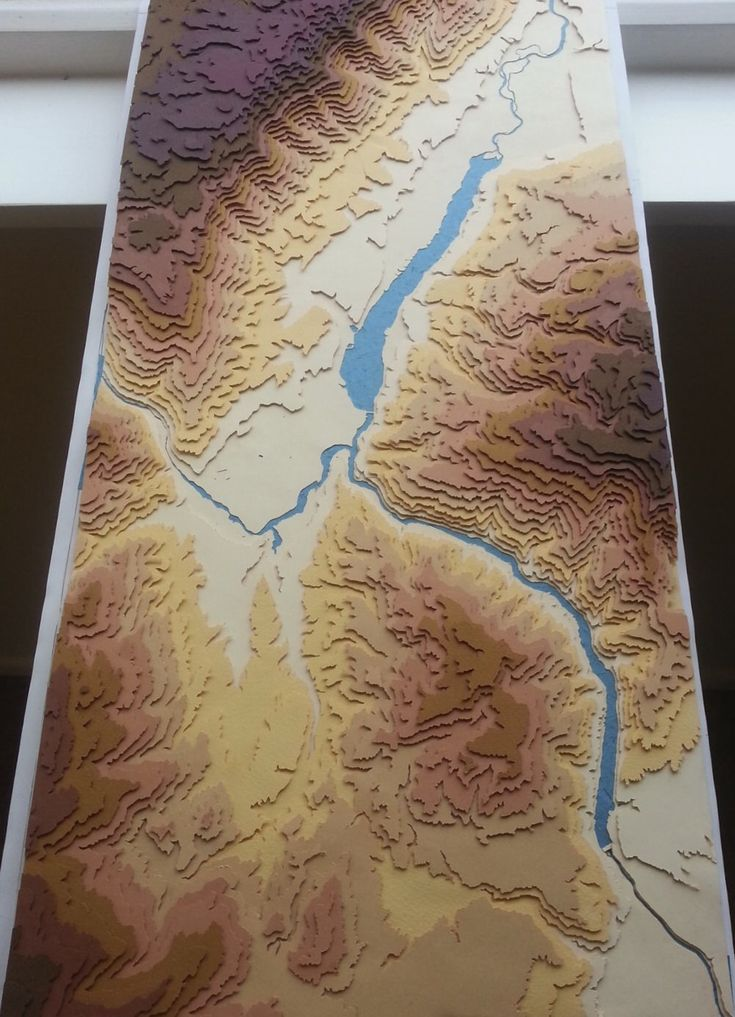 Netherlands Elevation Map%0A Cromwell and Lake Dustan Handmade Topographical Map