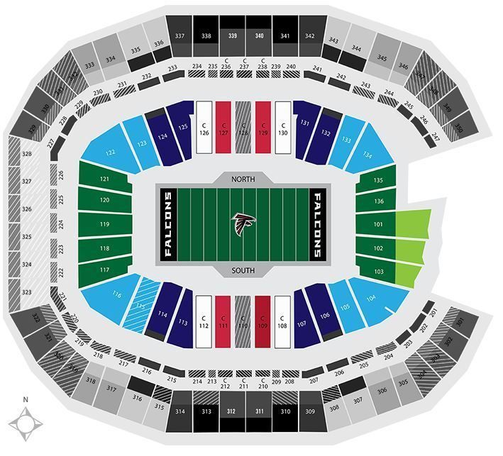 Best 25 atlanta falcons tickets ideas on pinterest for Mercedes benz superdome 3d seating chart