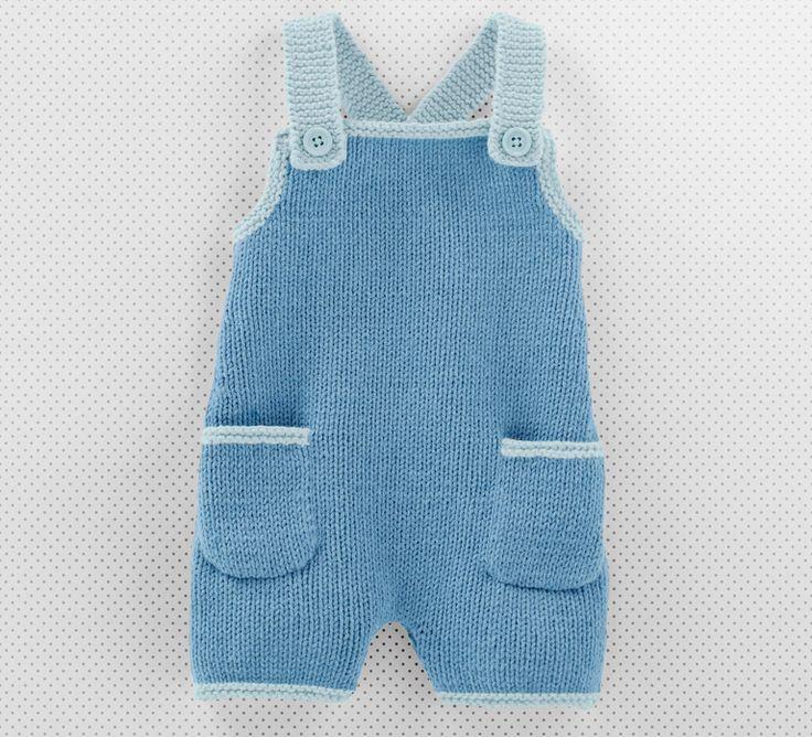 De par sa forme, cette salopette apporte à bébé un look décontracté et stylé avec ses deux petites poches en finition sur le devant.On craque pour ce modèle tricoté en Fil cabotine, coloris Faïence et Azur.Modèle N°5 du mini-catalogue N°644 : Printemps/Eté 2016, Layette