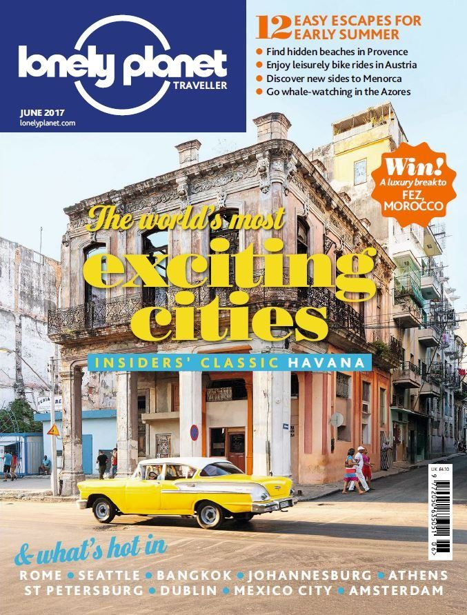 In the June issue of <strong><em>Lonely Planet Traveller</em></strong>, we take a look at the world's most exciting cities like Havana, Seattle, St Petersburg, Bangkok, Rome and more.    Find hidden beaches in Provence, discover new sides to Menorca and go whale-watching in the Azores with our 12 easy escapes for early summer guide.    PLUS you could <strong>WIN</strong> a luxury break to Fez, Morocco and much more!