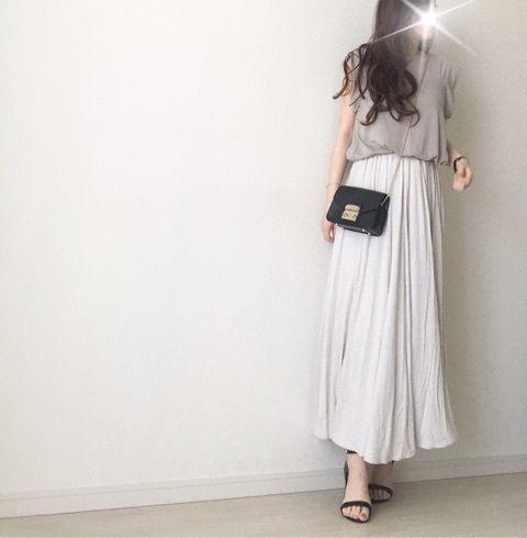 【coordinate】GUマキシで楽チンきれい目コーデ|Umy's プチプラmixで大人のキレイめファッション