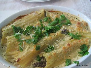 Baked Manicotti and Asparagus