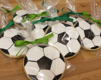 Soccer Ball Sugar Cookies by PetesCustomCookies on Etsy