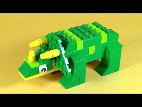 How To Make Lego DINOSAUR TRICERATOPS - 10664 LEGO® Bricks and More Creative Tower Tutorial - YouTube