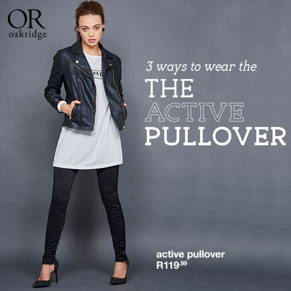 3 WAYS TO WEAR THE ACTIVE PULLOVER: Need these must-haves in your life? Shop in-store and online now: http://www.mrp.com/jump/Ladies/Sweat-Tops/subcategory/cat1030044/cat20001?utm_source=ceros&utm_medium=digimag&utm_campaign=01_2015wk13_l_or_AW15_TheActivePullover&utm_source=Pinterest&utm_medium=post&utm_campaign=01_2015wk13_l_or_AW15_WinterEdit Whether you're going for glam with an edge or off-duty cool, embrace sweater weather with this perfect layering piece!