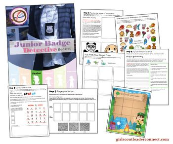 Have fun earning the Junior Girl Scout Detective Badge using this booklet for each girl. Print a booklet for each girl and complete the few prep items before the meeting and you will have everything you need to earn the badge. For each step there are hands on activities to keep the girls engaged while learning about what a detective does every day as part of their job.