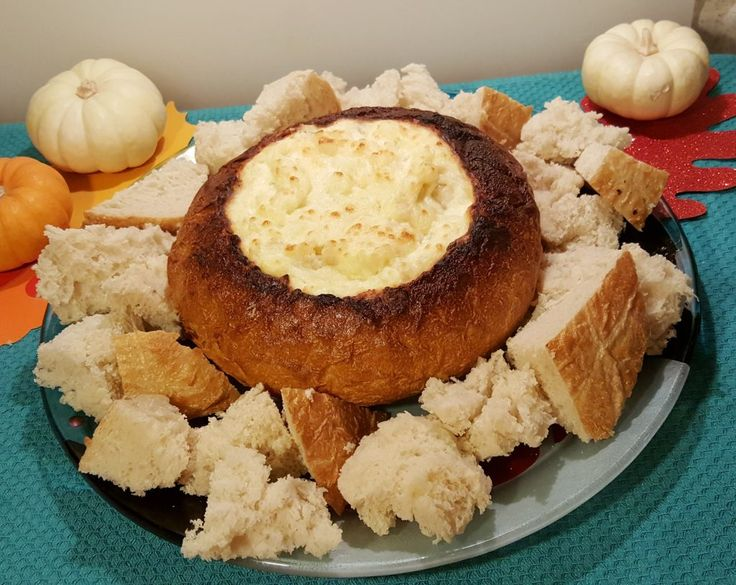 Hot Onion Cheese Dip Bread Bowl Image