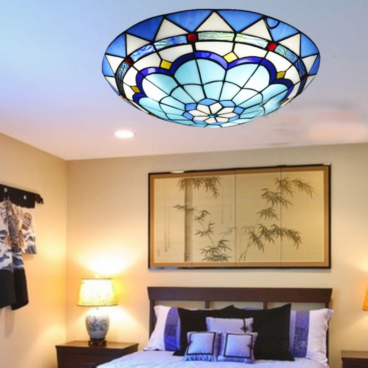 85.00$  Watch here - http://aligak.worldwells.pw/go.php?t=32767596435 - Mediterranean ABS crystal stained glass tiffany Ceiling lights 30 40cm AC 110-240V. LED bulbs suspension lamp bedroom lighting 85.00$