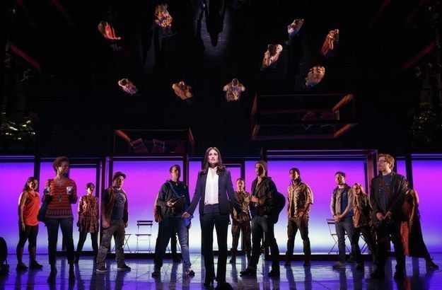 """On April 12, Menzel and Rapp honored their history and led their new show's cast in an emotional rendition of """"Seasons of Love"""" to raise money for Broadway Cares/Equity Fights AIDS.   Idina Menzel, Anthony Rapp And The Cast Of """"If/Then"""" Sing """"Seasons Of Love"""""""