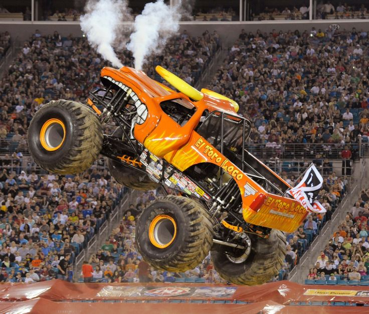It's fuck badass just to see them truck in the air 40 feets. 14,000 pounds ,1,500 hp or more,12 feet tall and the speed they move in a short distance I don't know but that shit get me so excited I feel like a little kid I'm taking my nephew and his buddies when they come