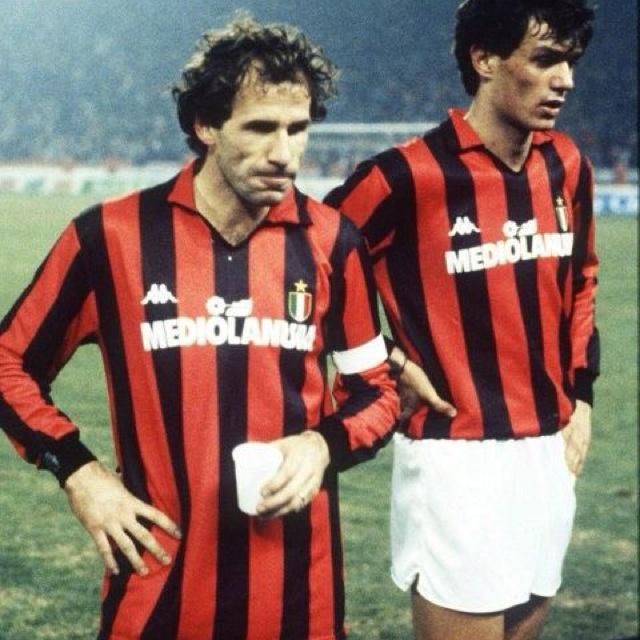 Franco Baresi & Paolo Maldini AC. Milan