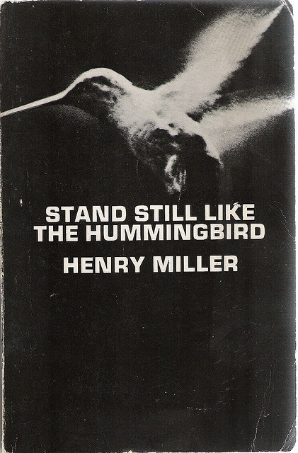 stand still like the hummingbird  henry miller