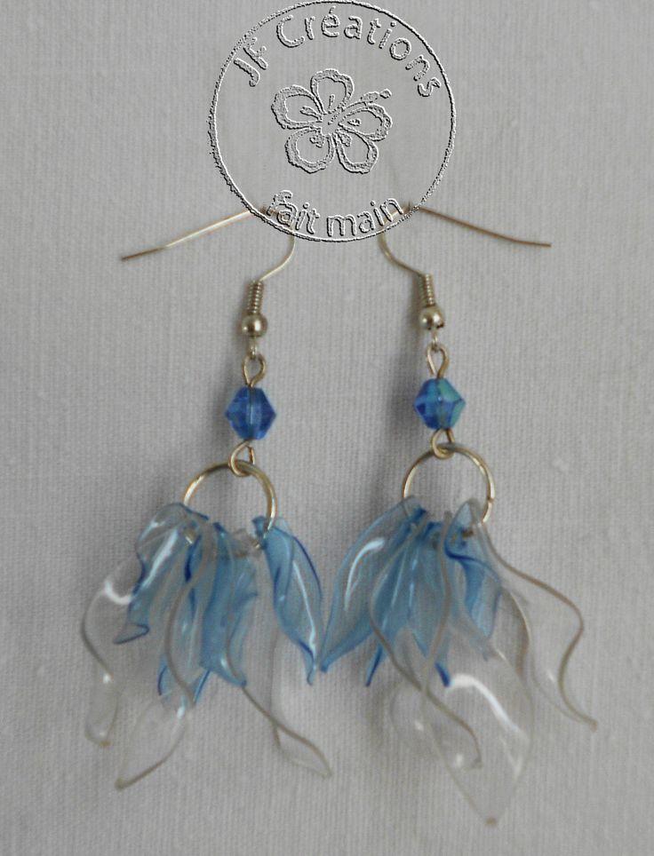 bijoux en bouteille plastique   Série de boucles d'oreille recyclage - Le blog de passions.creatives ...
