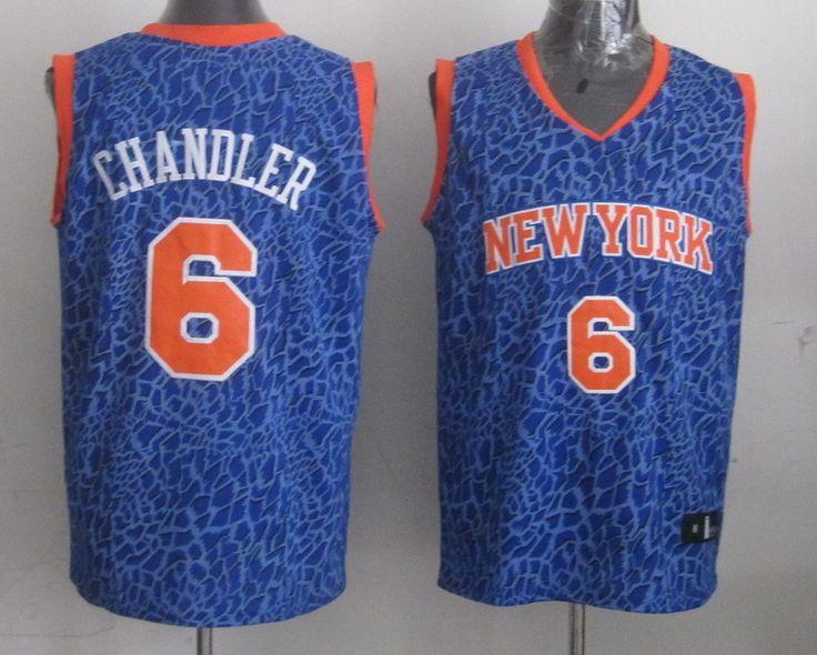 Men's NBA New York Knicks #6 Chandler Crazy Light Swingman Blue Jersey