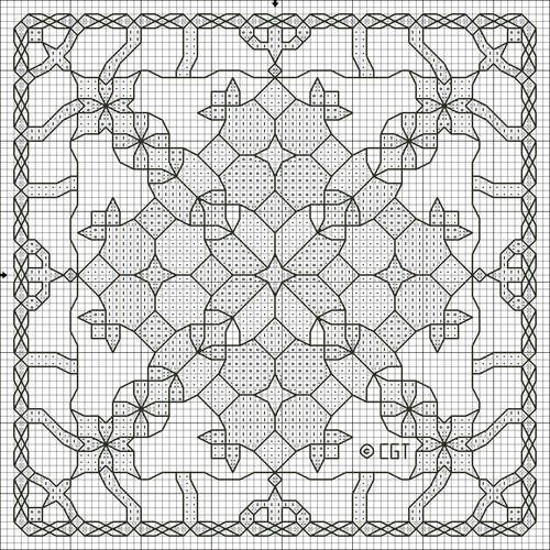 Printable Kaleidoscope Coloring Pages Free Kaleidoscope Three Cross Stitch Pattern Free Kaleidoscope Three