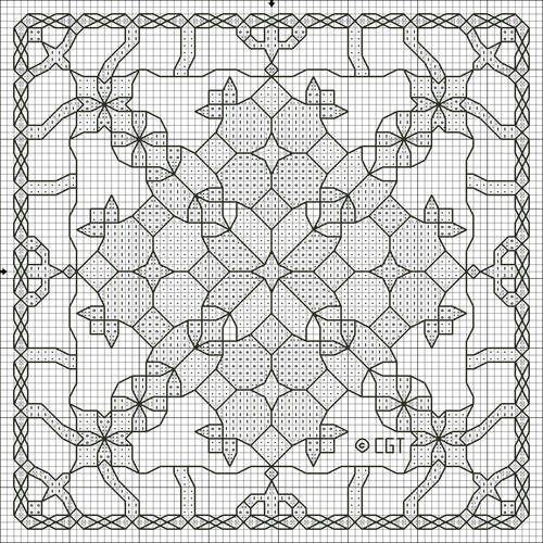 Kaleidoscope Cross Stitch Pattern