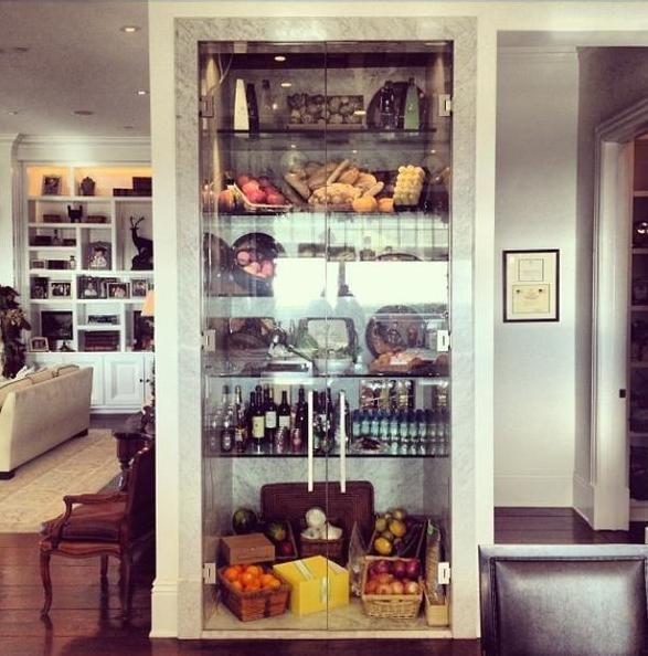 Yolanda Foster's marble glass door fridge